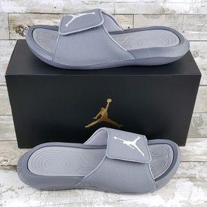 af8f3a0e306b33 Nike Jordan Hydro 6 Mens Slide Sandals Gray